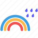 rain, rainbow, rainy, weather icon
