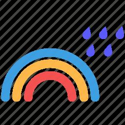 rain, rainbow, rainy, weather icon