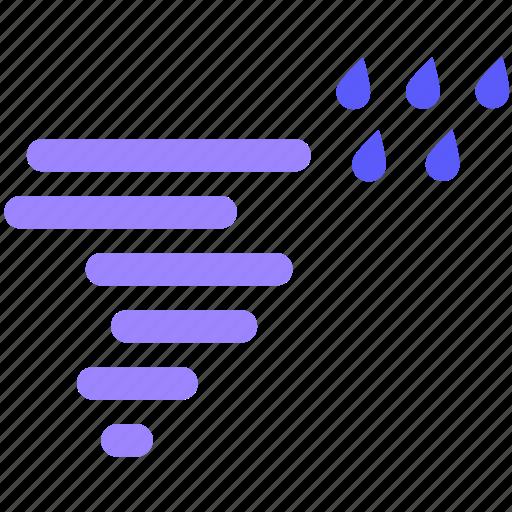 rain, rainy, storm, tornado, weather icon