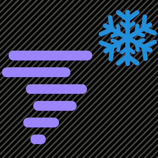 snow, snowy, storm, tornado, weather icon