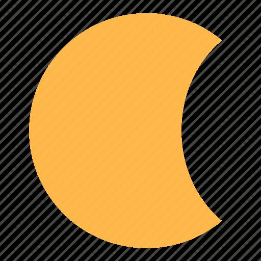 moon, moonlight, night, weather icon