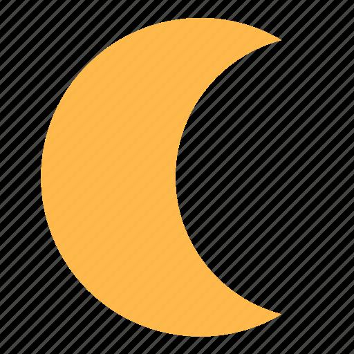 moon, moonlight, weather icon