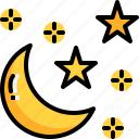 crescent, forecast, moon, night, sky, star, weather