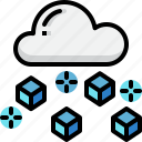 climate, cloud, forecast, hailing, weather icon