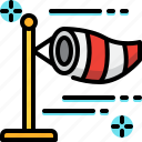 air, climate, forecast, weather, wind, windsock icon