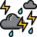 forecast, lightning, rain, storm, stormy, thunder, weather icon