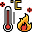 climate, fire, hot, summer, temperature, weather