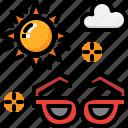 climate, fashion, forecast, hot, summer, sunglasses, weather icon