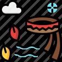 autumn, clothes, fashion, scarf, season icon