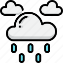 climate, cloud, drizzle, forecast, rain, weather icon