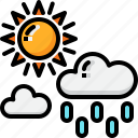 climate, cloud, drizzle, rain, sun, sunny, weather