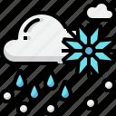 climate, cloud, forecast, rain, sleet, snow, weather icon