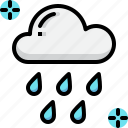 climate, cloud, forecast, rain, rainy, weather icon