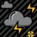 climate, cloud, forecast, lightning, thunder, weather icon