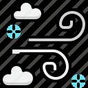 autumn, climate, forecast, season, weather, wind, windy icon