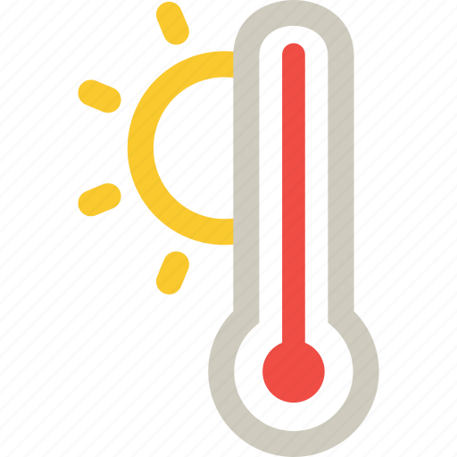 High, hot, warm, weather, temperature icon