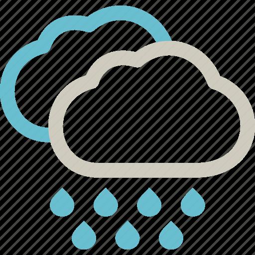 heavy, precipitation, rain, rainstorm, rainy, weather icon