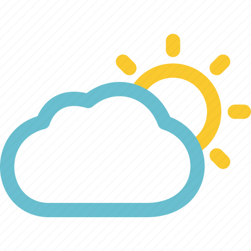 cloudy, day, mostly, partly, sunny icon
