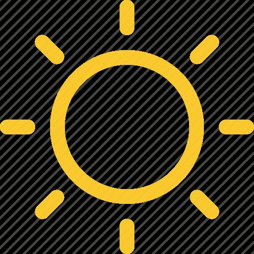 day, mostly, sun, sunny, sunshine icon