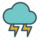 bolt, cloud, lightining, storm, thunder icon