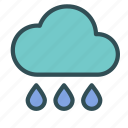 cloud, drop, rain, water icon