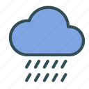 cloud, heavy, rain, weather icon