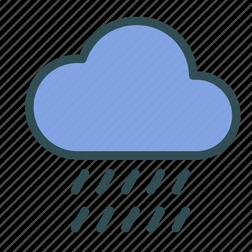 cloud, heavy, rain, weather icon