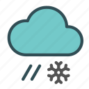 cloud, flake, rain, snow icon