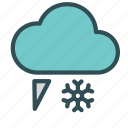 cloud, flake, rain, sleet, snow icon