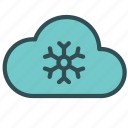 cloud, cold, flake, snow, winter icon