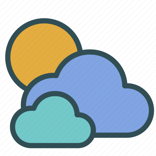 cloud, day, sky, sun, weather icon
