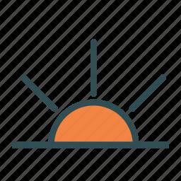 solar, star, sun, sunrise, system icon
