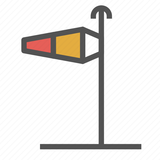 direction, left, pole, wind icon