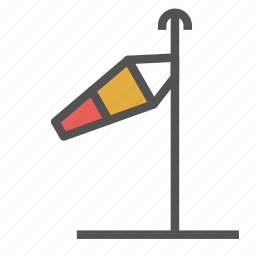 direction, down, left, pole, wind icon