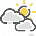 cloud, cloudy, day, daytime, sun, weather