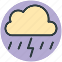 cloud lightning, raining, stormy rain, thunder, thunder bolt, thunder lightning icon