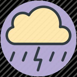cloud lightning, raining, stormy rain, thunder, thunder bolt, thunder lightning icon