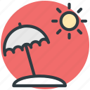 beach umbrella, holiday, summer, sun, weather icon