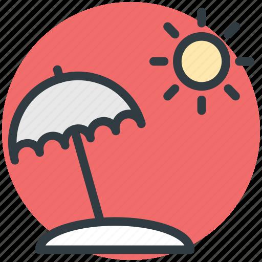 beach umbrella, holiday, summer, sun, weather icon