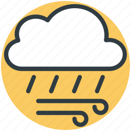 cloud, rain, weather, winds icon