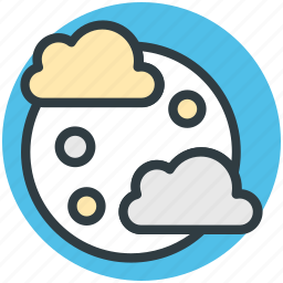 cloud, forecast, moon, raindrops, weather icon