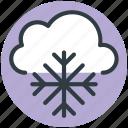 snowflake, snow bunting, winter, cloud, christmas