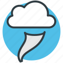 climate change, cloud, hazardous weather, severe weather, whirlwind icon