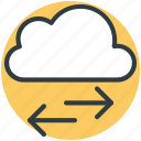 arrows, cloud, cloud computing concept, cloud technology, directions icon