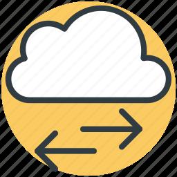arrows, cloud, cloud computing concept, cloud technology, directions icon