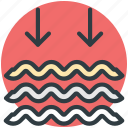 lake, moisture, river, sea, water waves icon