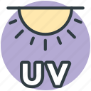 sun, ultraviolet illumination, ultraviolet light, ultraviolet radiation, uv icon