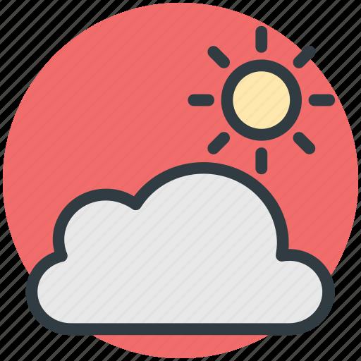 cloudy, pronostic, sunny cloud, sunrise, sunset, weather, winter icon