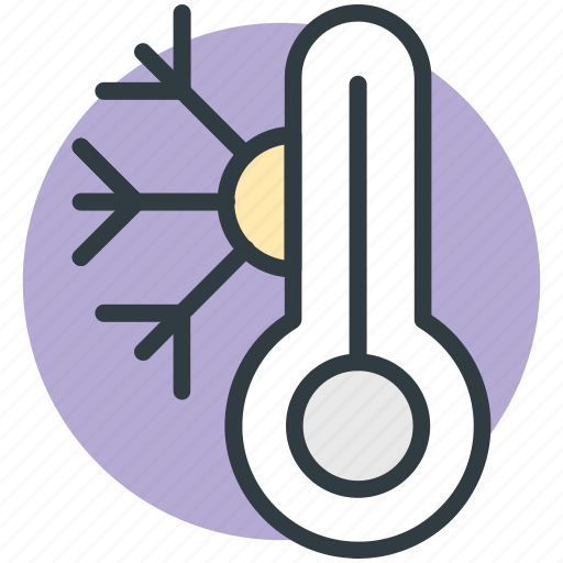 cold, cold weather, snowflake, temperature, thermometer icon