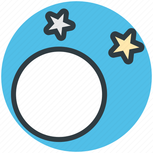 evening, evening stars, full moon, nighttie, stars icon